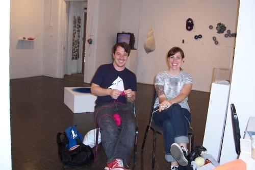 "Daniel Yuhas (artist) and Liz Smith at Daniel's ""Golden Spiral Workshop"""