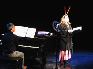 Lisa Daehlin (performer) with Louis Mendez
