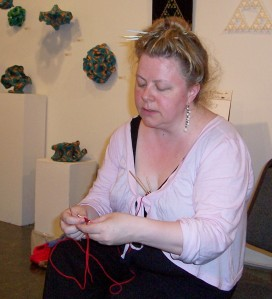 Lisa is a wonderful singer and a great knitter and crocheter.