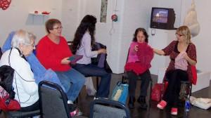 Lace workshop participants