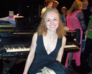 "Composer Stefania de Kenessey, composer of music for ""Eve's Design"", ""Mother"" and ""Mrs. Moon"" performed by Lisa Daehlin at OperaKnit Cabaret"