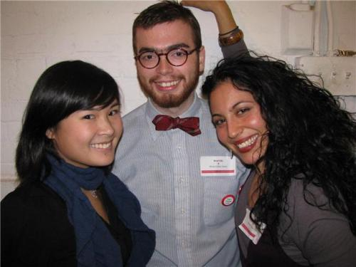 Brad Silk, Kathy Chau (left) and Camilia Qabazard (right...another incredible intern who moved on to bigger and better things...we miss you, Camilia).