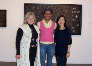 Daina Taimina with our incredible interns Quin Johnson and Joanna Tam.