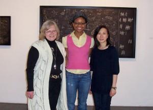 Daina Taimina with our incredible interns Quin Johnson and Joanna Tam.