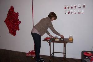 In Emily's studio